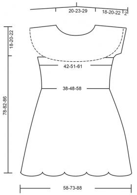 Платье создавая волну - Выкройка 1