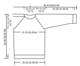 Детский джемпер спицами регланом сверху - Выкройка 1