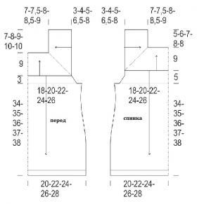 Топ реглан с квадратным вырезом горловины - Выкройка 1
