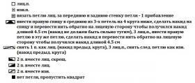 Свитер Белая ива - Схема 1