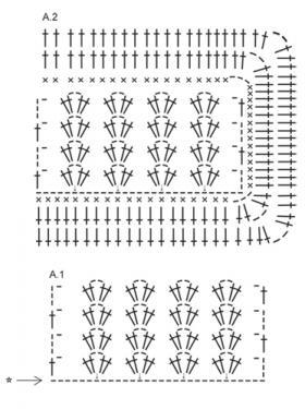 Покрывало с широким бордюром - Схема 1