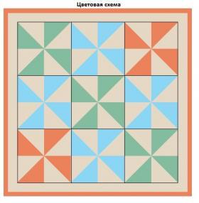Плед для малыша из мотивов с треугольниками - Схема 1