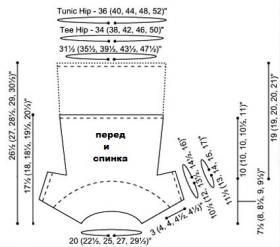 Топ с круглой кокеткой платочным узором - Выкройка 1