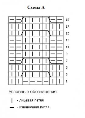 Праздничное рельефное пальто - Схема 1