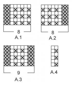 Джемпер с теневым узором на рукавах - Схема 1