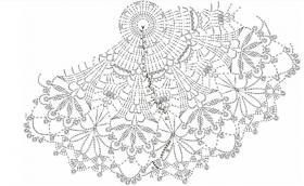 Круглая ажурная салфетка крючком - Схема 1