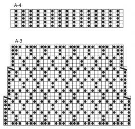 Жаккардовые носки спицами - Схема 2