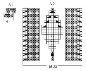 Подушка снежные бусинки - Схема 2