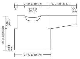Жаккардовый джемпер с круглым воротником - Выкройка 1