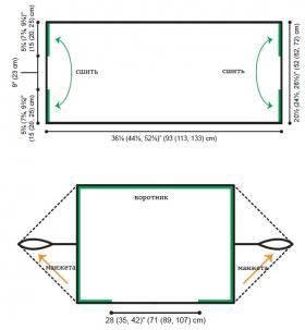 Кардиган из мотивов с прямыми полочками - Выкройка 1