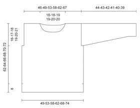Свободный джемпер спицами со спущенной проймой - Выкройка 1