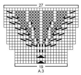 Пуловер Незабудки - Схема 4