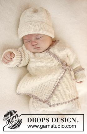 Кардиган спицами с запахом для малыша