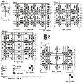 Гольфы с цветочным жаккардом - Схема 1