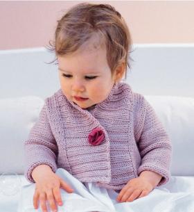 Жакет для малыша с широкой планкой
