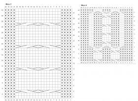 Снуд с анарами и градиентом - Схема 3