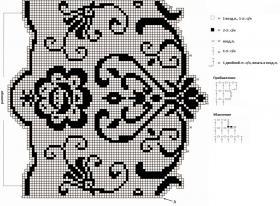 Филейная кайма для занавески - Схема 1