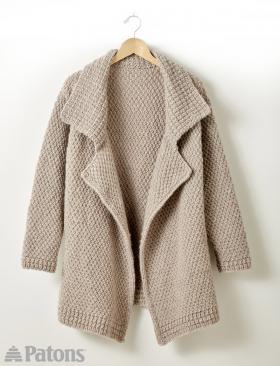 Свободное пальто с лацканами
