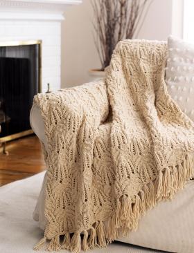 Одеяло с кружевным узором