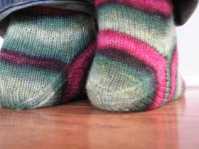 Носки с необычной пяткой
