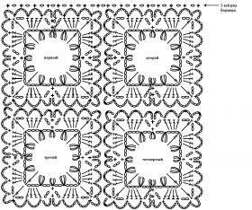 Шелковое болеро - Схема 1