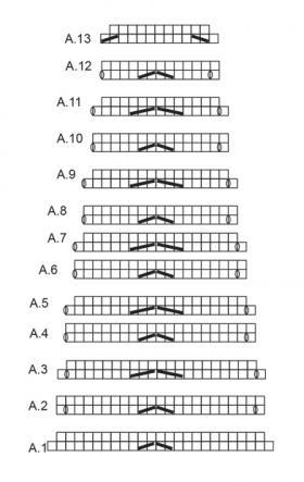 Юбка с узором зиг заг - Схема 1