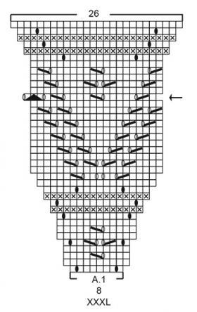 Кардиган Сентябрьское небо - Схема 4