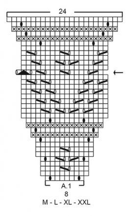 Кардиган Сентябрьское небо - Схема 3