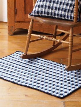Цветной коврик для дома крючком