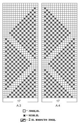Варежки зимний треугольник - Схема 1