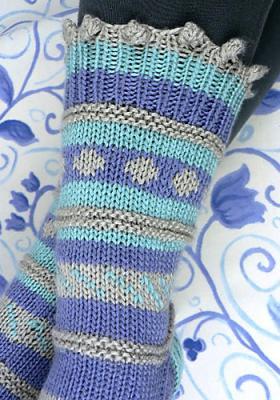 Теплые яркие носки - Фото 1