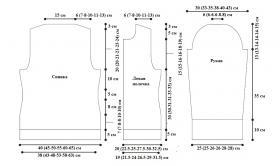 Кардиган с кружевными полосами - Выкройка 1