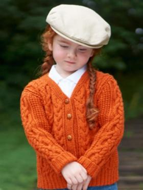 Оранжевый объемный кардиган