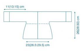 Жакет платочным узором с прямыми полочками - Выкройка 1