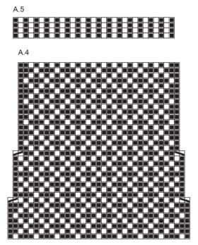 Носки с ярким принтом и жаккардом - Схема 2