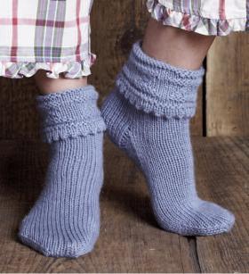 Теплые носки с отворотом