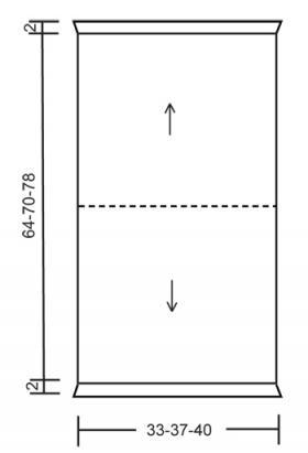 Белое кружевное болеро - Выкройка 1