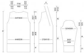 Длинный приталенный жакет с дорожками - Выкройка 2