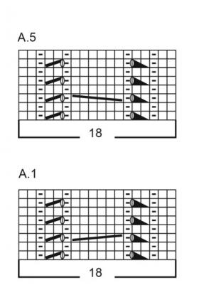 Джемпер зимняя грация - Схема 1