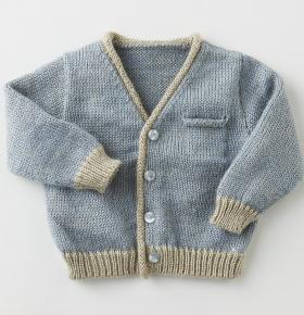 Кардиган с карманом спицами для малыша - Фото 1