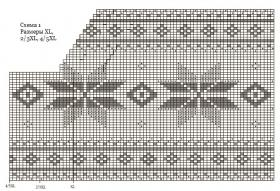 Свитер спицами со снежинками - Схема 2