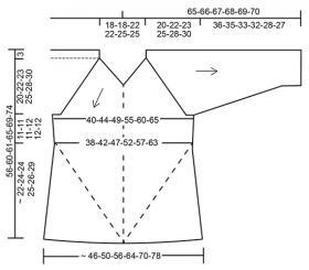 Джемпер диагональное наслаждение - Выкройка 1