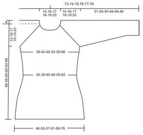 Джемпер с рукавом реглан и простым ажуром - Выкройка 1
