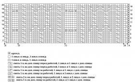 Жилет с плотными узорами - Схема 1