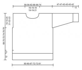 Свободный джемпер с ажурным узором - Выкройка 1