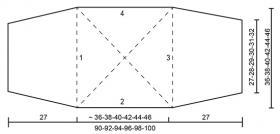 Болеро лимонный крест - Выкройка 1