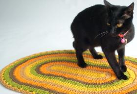 Овальный полосатый коврик - Фото 1