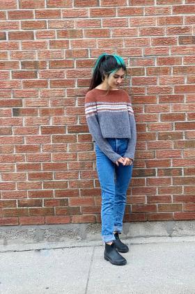 Пуловер В дороге