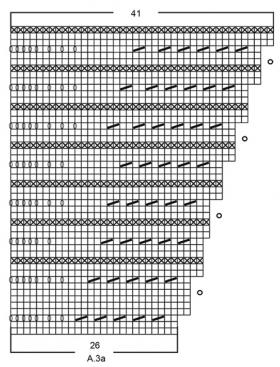 Шаль осенняя бабочка - Схема 5
