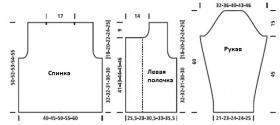 Двубортный укороченный жакет - Выкройка 1